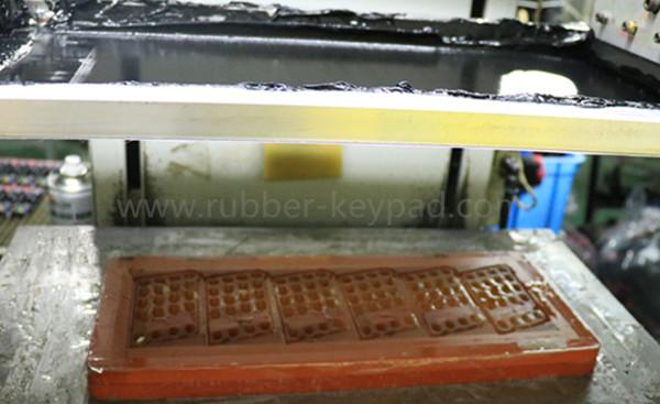 teclado de impresión de seda