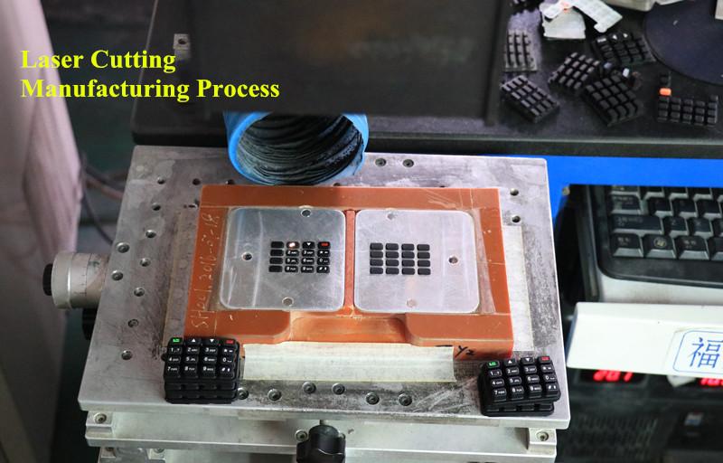Botones de silicona con retroiluminación