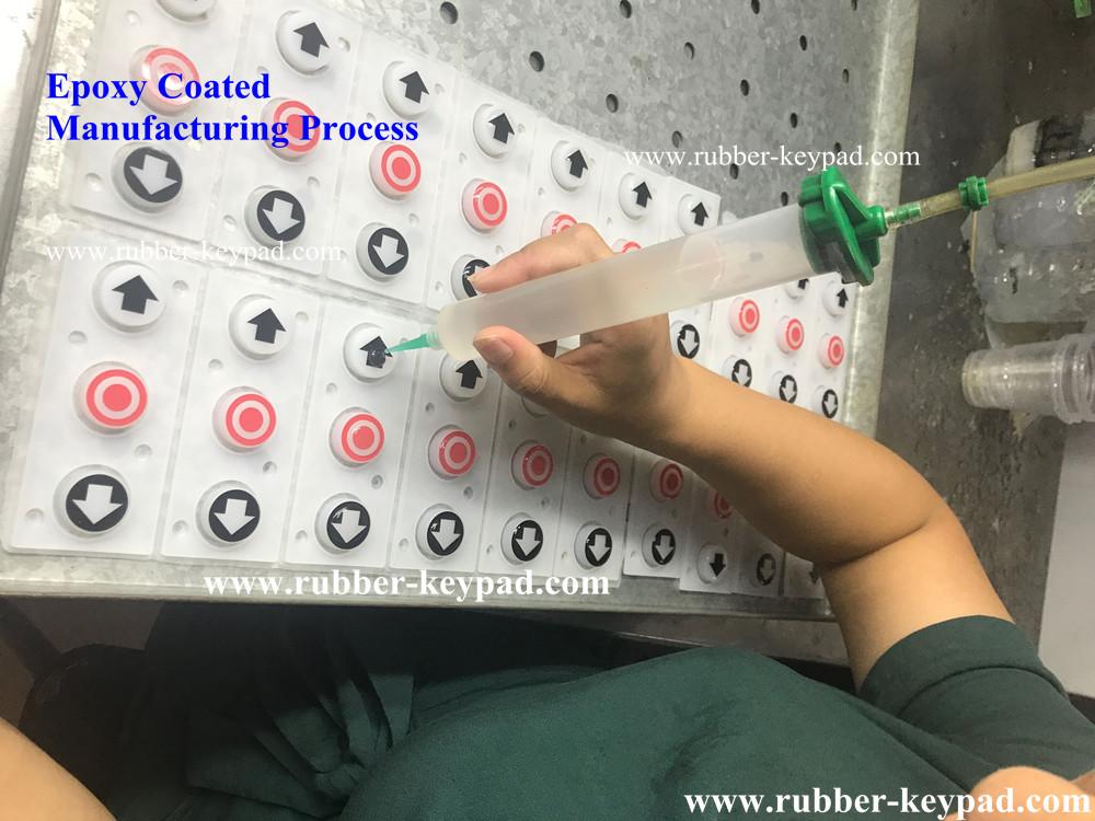 Botones de silicona con recubrimiento epóxico
