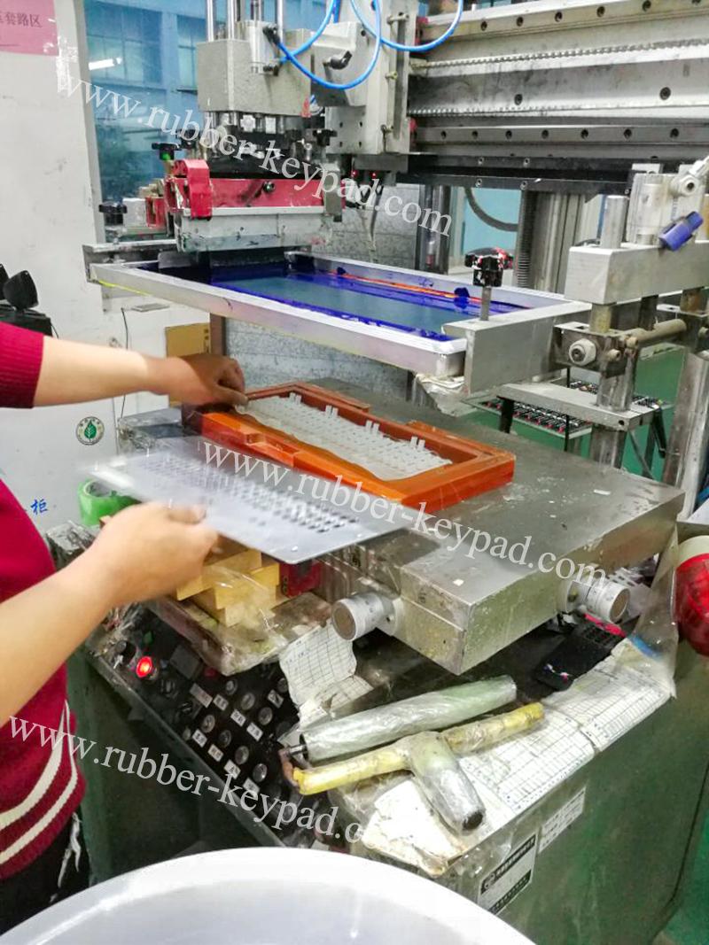 proceso de fabricación del teclado de serigrafía